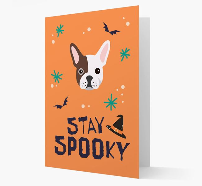 'Stay Spooky' - Personalized Card with French Bulldog Icon