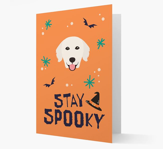 'Stay Spooky' - Personalized Card with Golden Retriever Icon