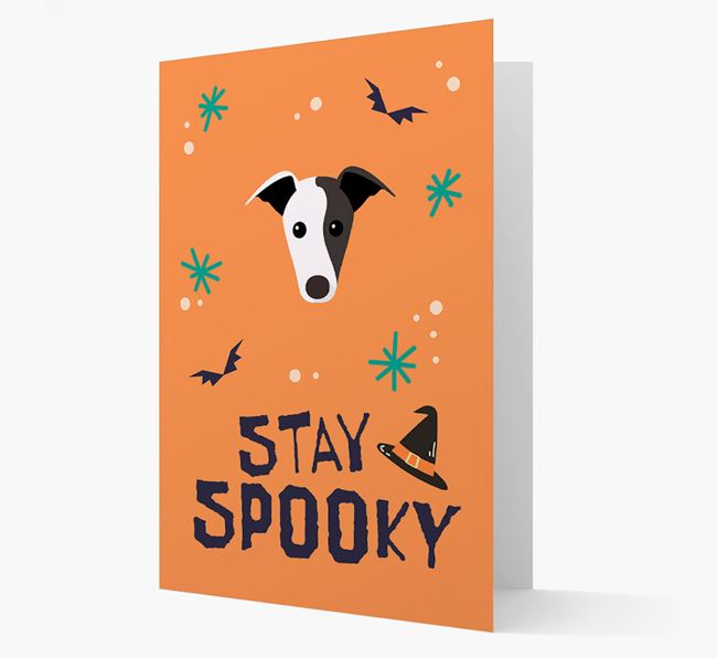 'Stay Spooky' - Personalized Card with Greyhound Icon