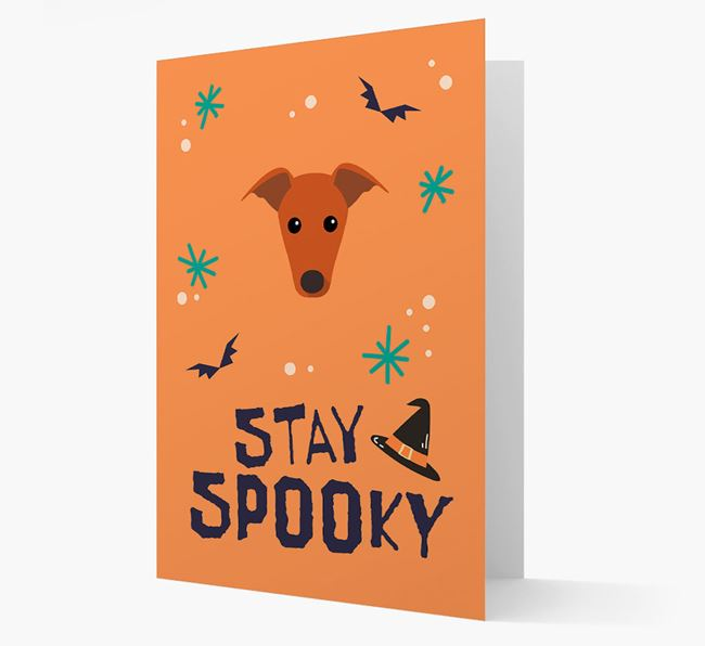 'Stay Spooky' - Personalised Card with Greyhound Icon