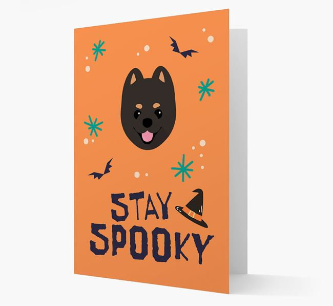 'Stay Spooky' - Personalized Card with Pomeranian Icon