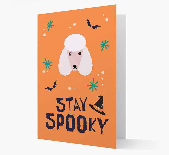 'Stay Spooky' - Personalised Card with Poodle Icon