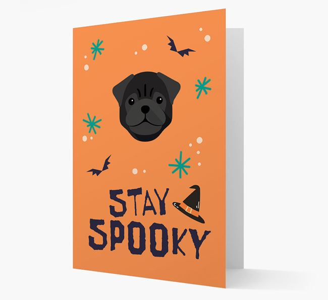 'Stay Spooky' - Personalised Card with Pug Icon