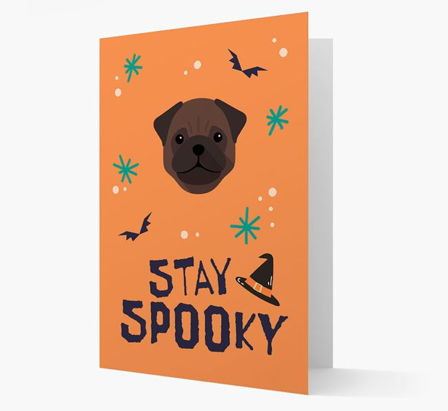 'Stay Spooky' - Personalized Card with Pug Icon