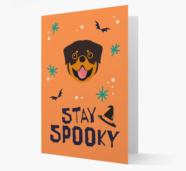 'Stay Spooky' - Personalised Card with Dog Icon