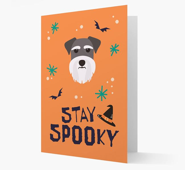 'Stay Spooky' - Personalized Card with Schnauzer Icon