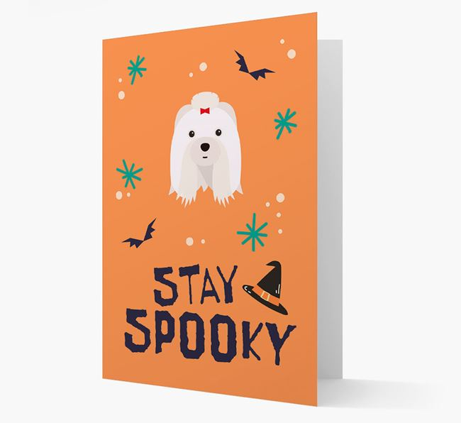 'Stay Spooky' - Personalized Card with Shih Tzu Icon