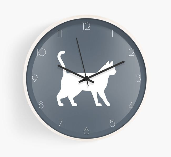 'Bengal Silhouette' - Personalised Wall Clock