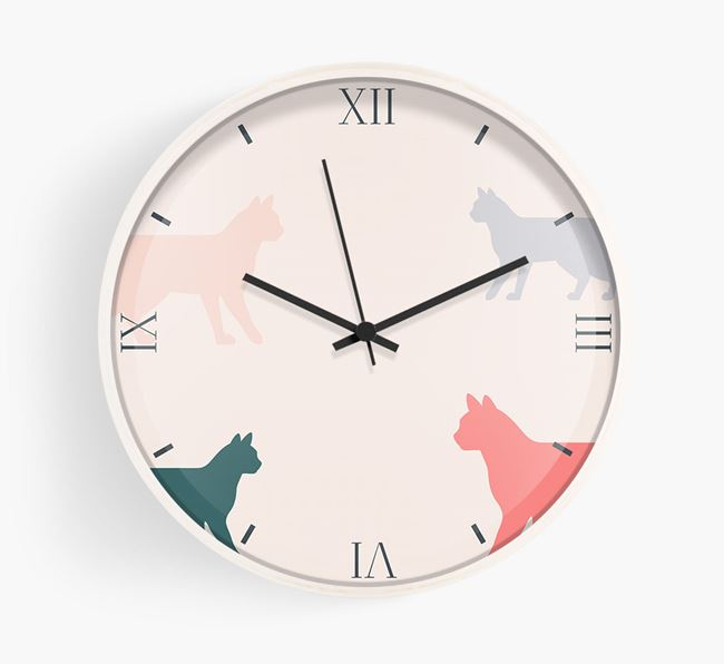 'Bengal Silhouettes' - Personalised Wall Clock