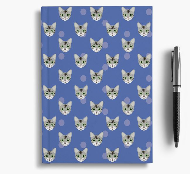 'Bengal Icon Pattern' - Personalized Notebook