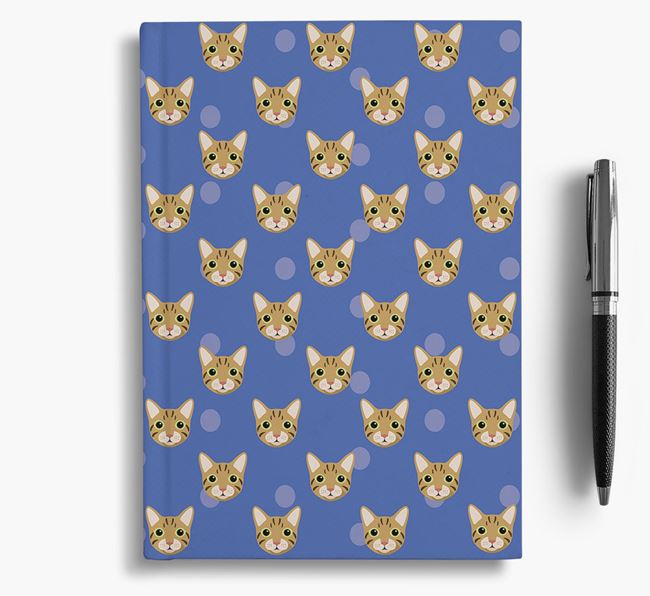 'Cat Icon Pattern' - Personalized Notebook