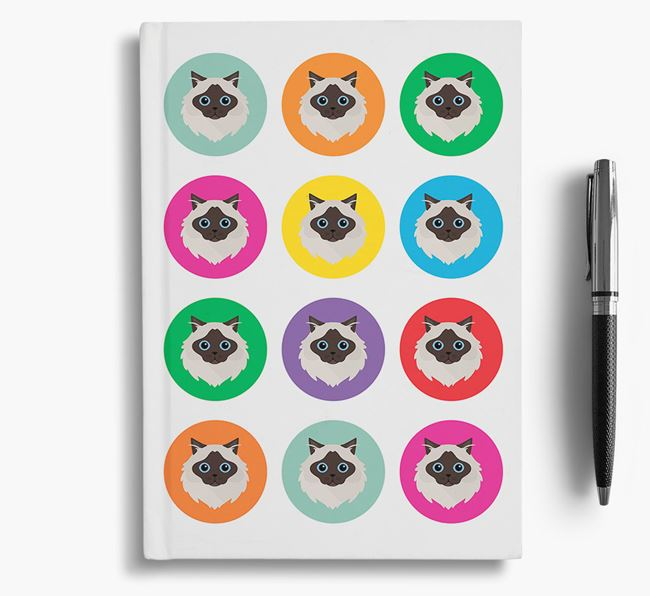 'Cat Icons' - Personalized Notebook