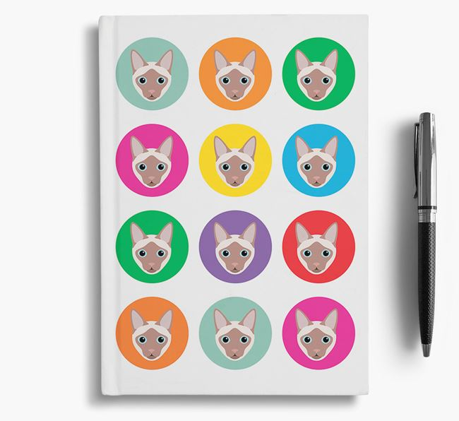 'Siamese Icons' - Personalised Siamese Notebook