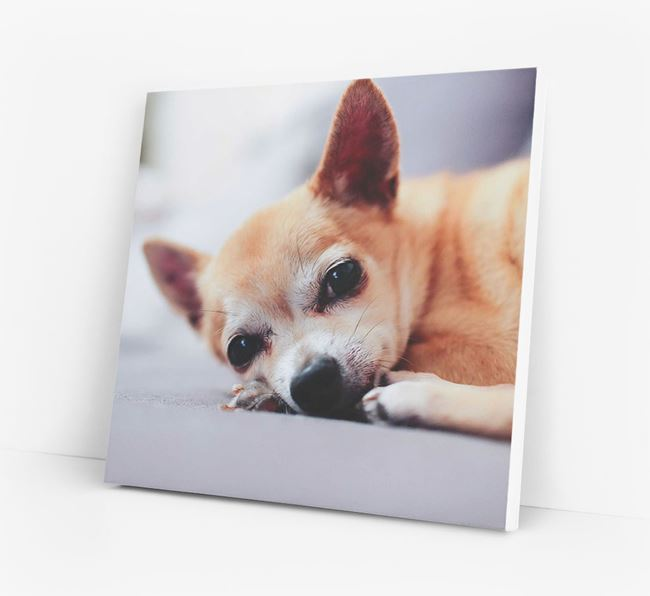 Photo Upload Canvas Print - Personalised for your Chihuahua