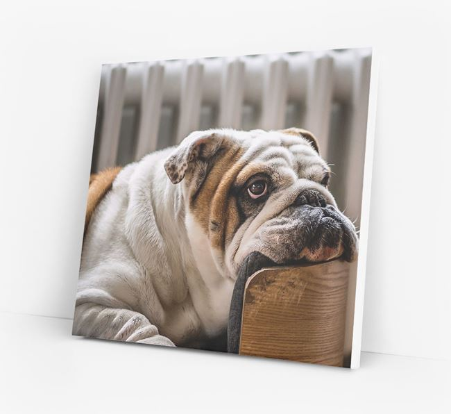 Photo Upload Canvas Print - Personalised for your English Bulldog