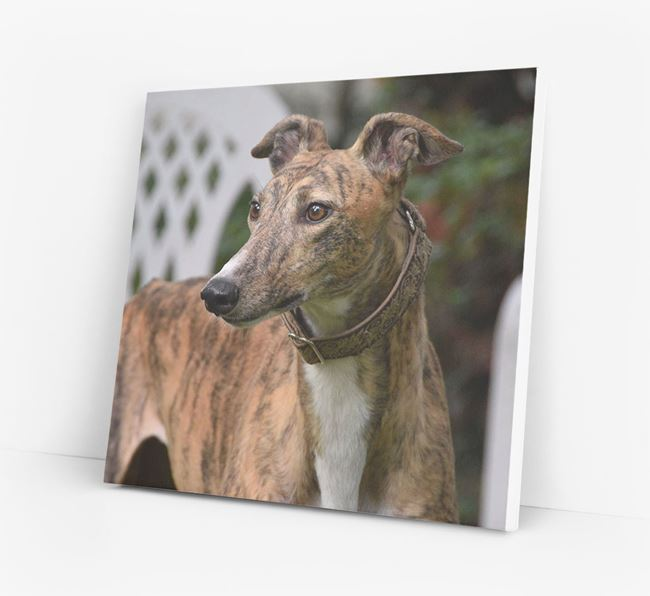 Photo Upload Canvas Print - Personalised for your Greyhound
