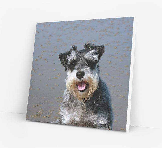 Photo Upload Canvas Print - Personalised for your Schnauzer