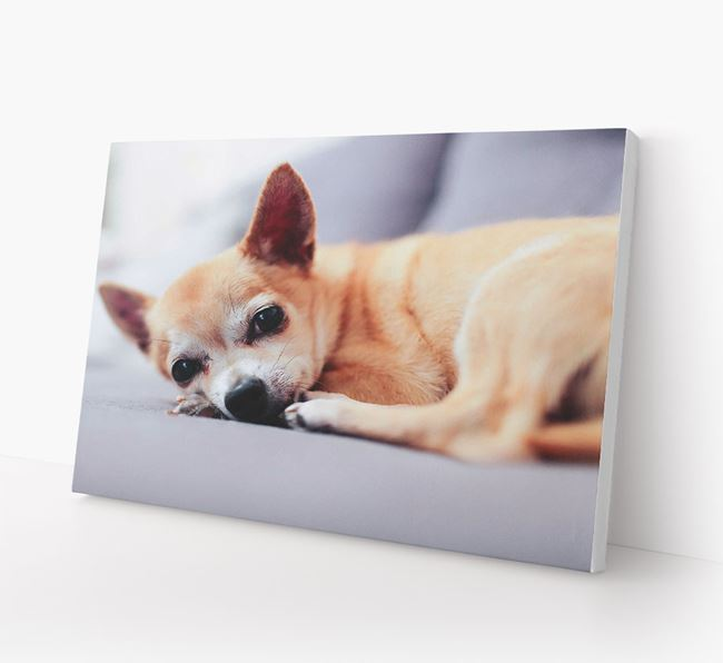Photo Upload Canvas Print Landscape - Personalised for your Chihuahua