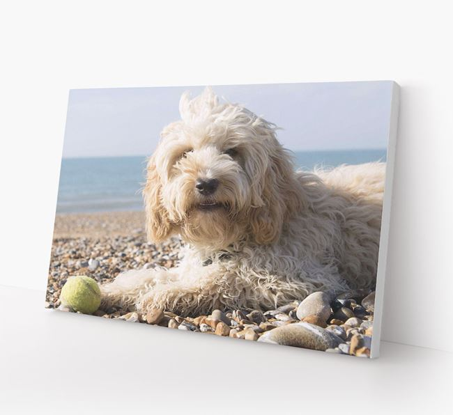 Photo Upload Canvas Print Landscape - Personalised for your Cockapoo