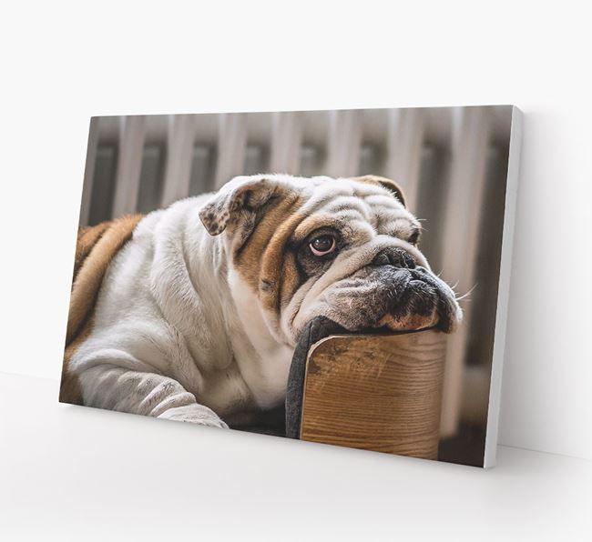 Photo Upload Canvas Print Landscape - Personalised for your English Bulldog