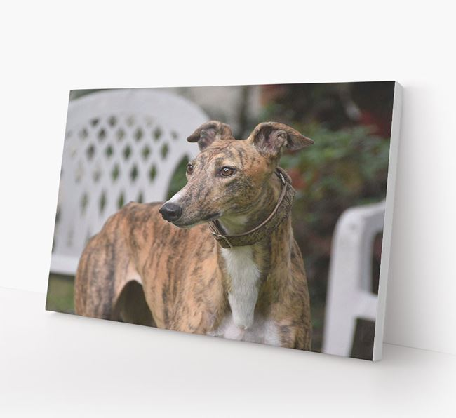 Photo Upload Canvas Print Landscape - Personalised for your Greyhound