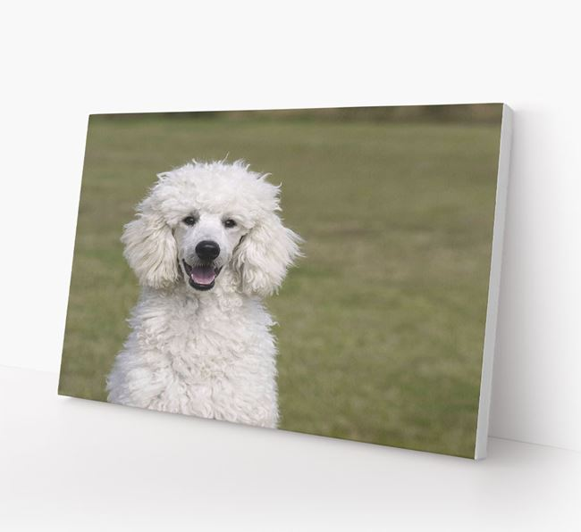 Photo Upload Canvas Print Landscape - Personalised for your Poodle