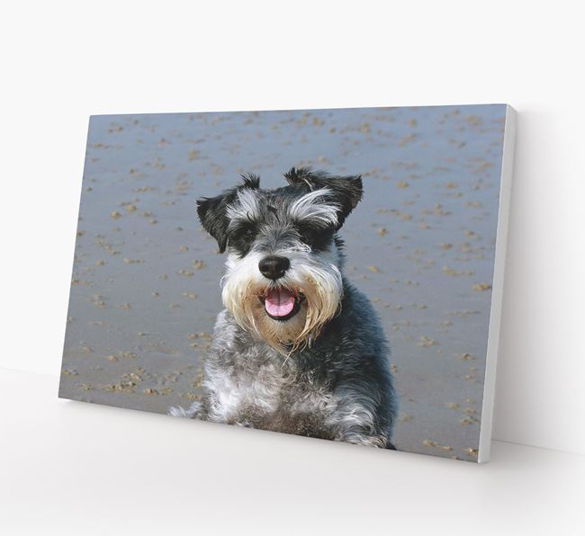 Photo Upload Canvas Print Landscape - Personalised for your Schnauzer