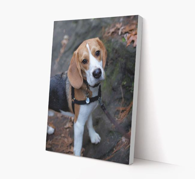 Photo Upload Canvas Print Portrait - Personalised for your Beagle