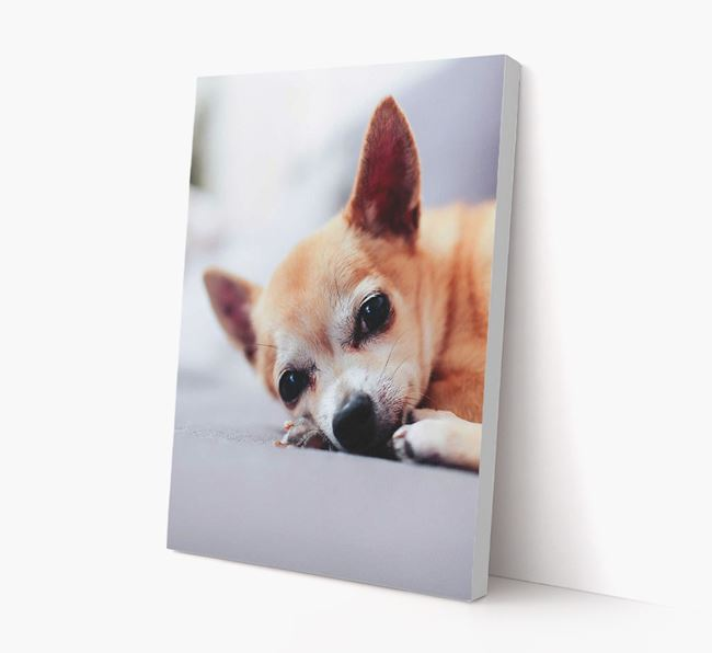 Photo Upload Canvas Print Portrait - Personalised for your Chihuahua