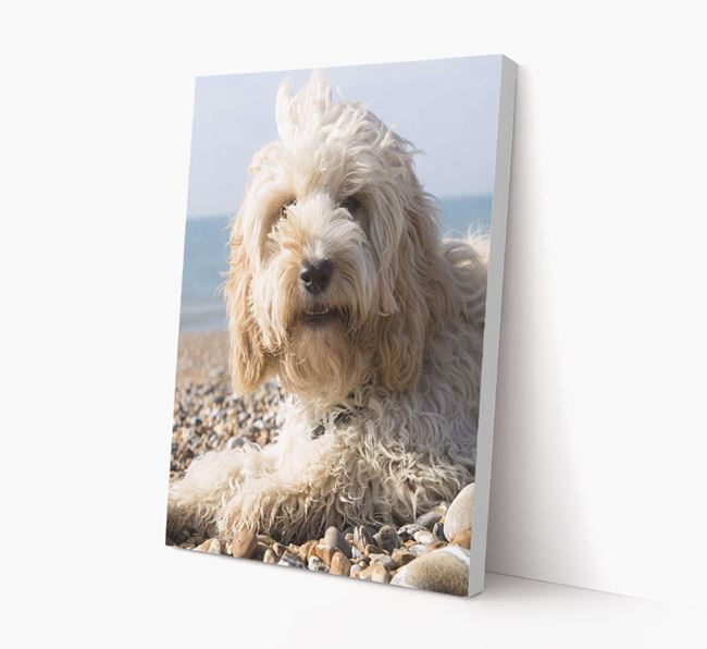 Photo Upload Canvas Print Portrait - Personalised for your Cockapoo