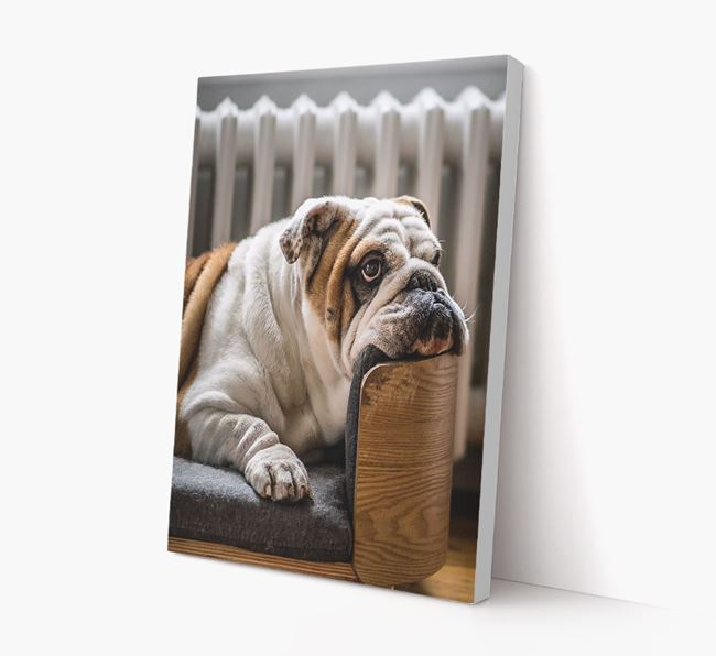 Photo Upload Canvas Print Portrait - Personalised for your English Bulldog