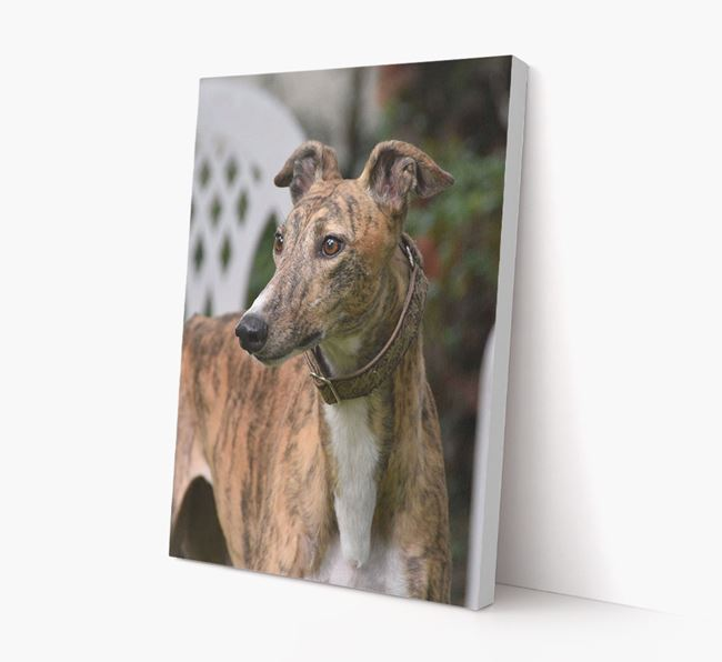 Photo Upload Canvas Print Portrait - Personalised for your Greyhound