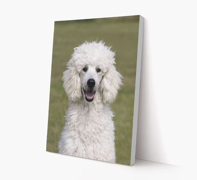 Photo Upload Canvas Print Portrait - Personalised for your Poodle
