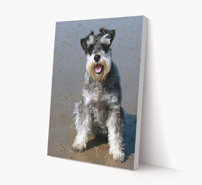 Photo Upload Canvas Print Portrait - Personalised for your Schnauzer