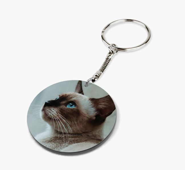 Photo Upload Keyring - Personalized for your Siamese