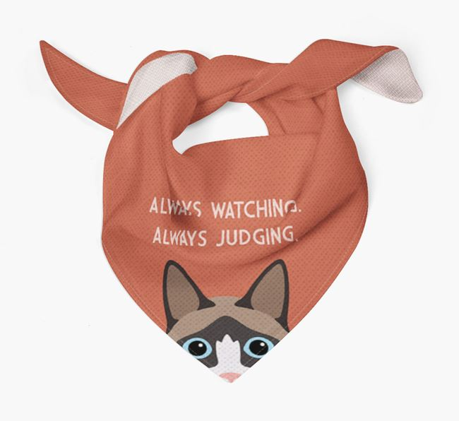 'Always Watching' - Personalized Cat Bandana