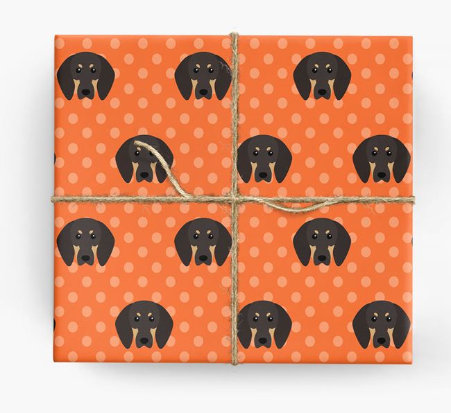 Black and Tan Wrapping Paper
