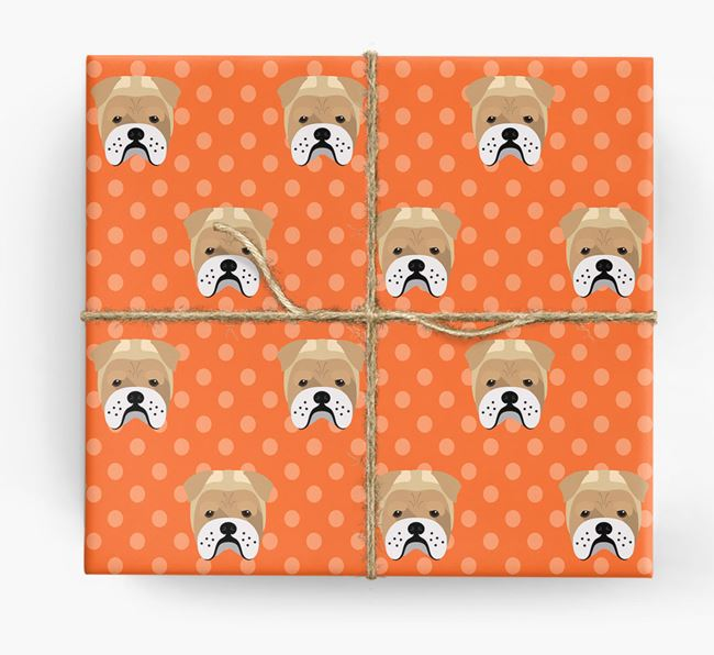 Bull Pei Wrapping Paper