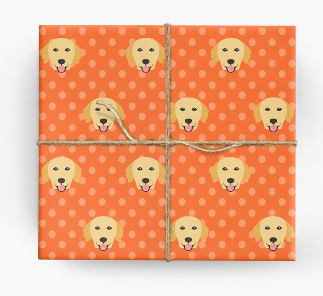 Golden Retriever Wrapping Paper