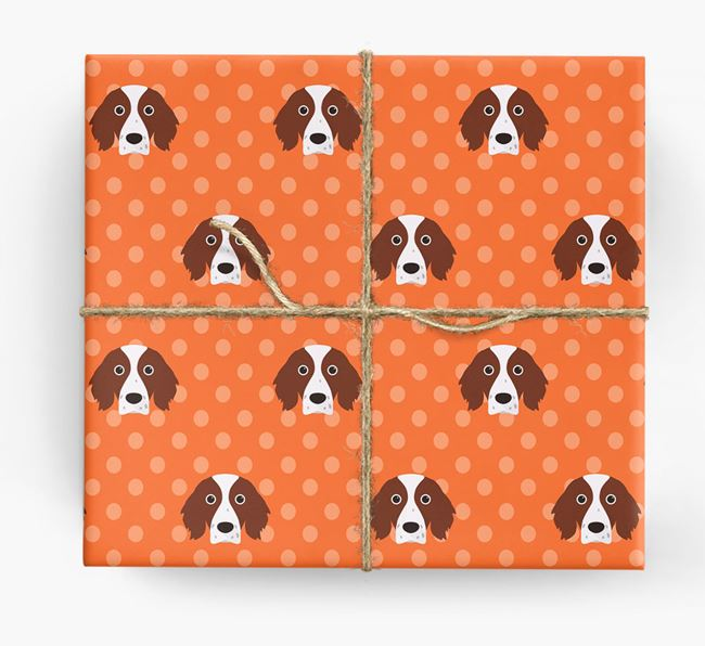 Red & White Setter Wrapping Paper