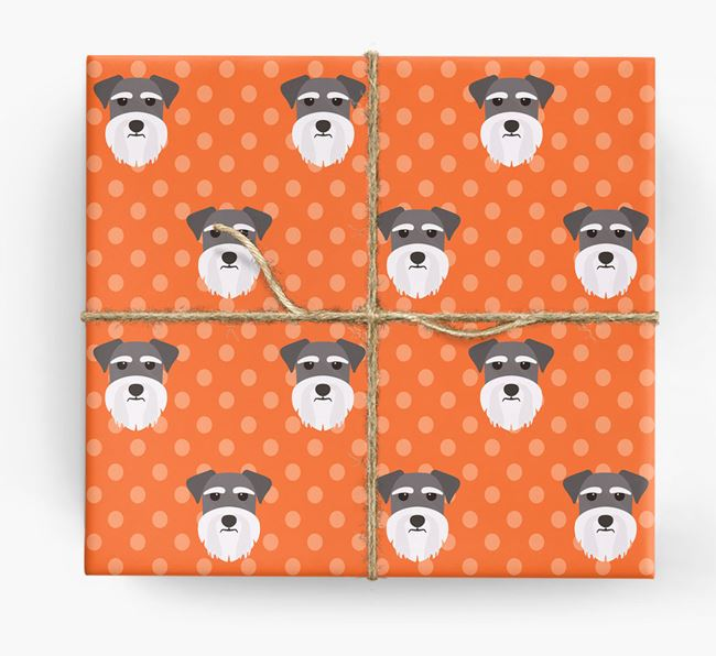 Miniature Schnauzer Wrapping Paper