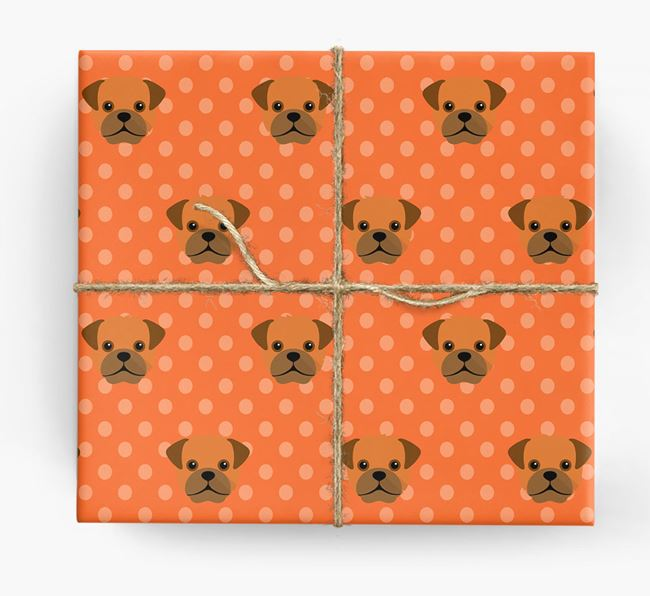 Pugapoo Wrapping Paper