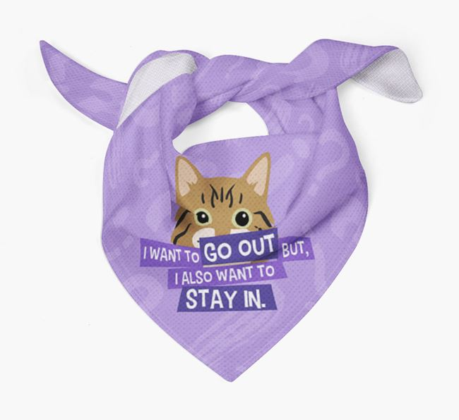 'I Want To Go Out But...' - Personalized Cat Bandana