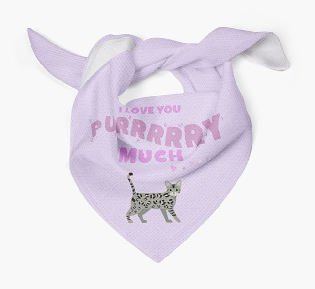 'I Love You Purry Much' - Personalised Bengal Bandana