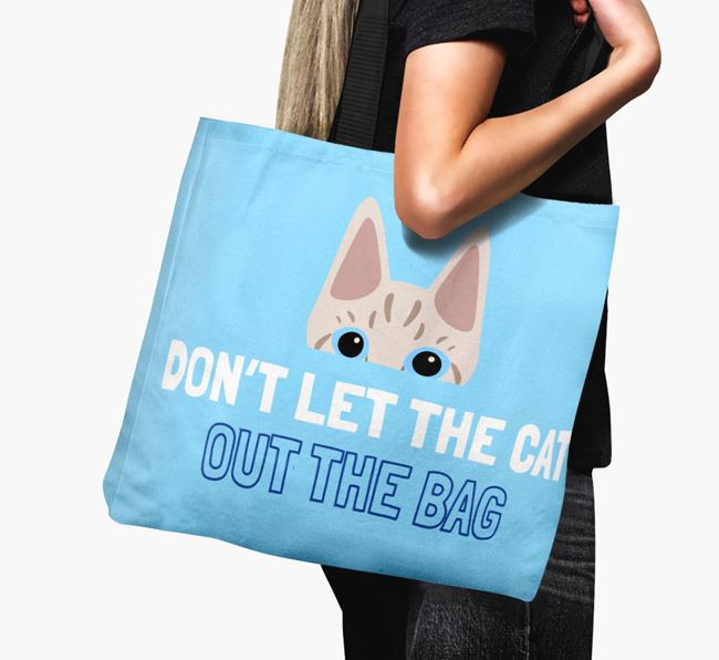 'Don't Let the Cat Out' - Personalized Ashera Canvas Bag
