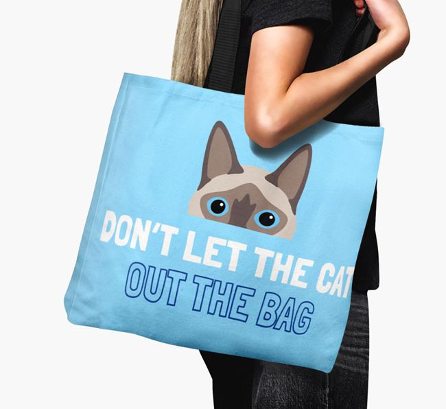 'Don't Let the Cat Out' - Personalized Balinese Canvas Bag