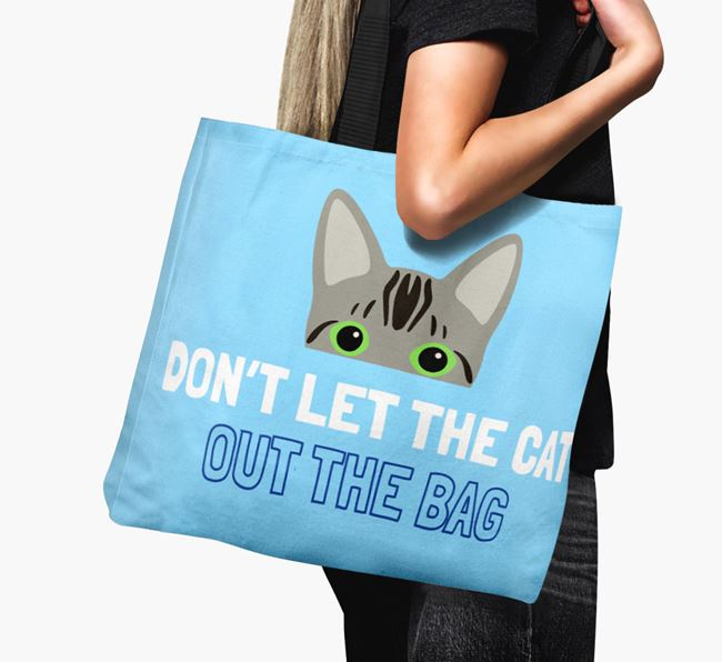 'Don't Let the Cat Out' - Personalized Bengal Canvas Bag