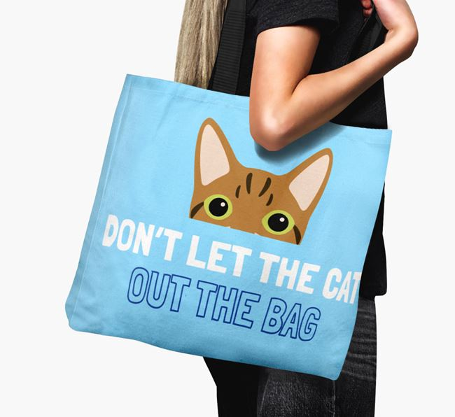'Don't Let the Cat Out' - Personalized Cat Canvas Bag