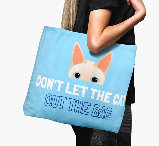 'Don't Let the Cat Out' - Personalized Siamese Canvas Bag