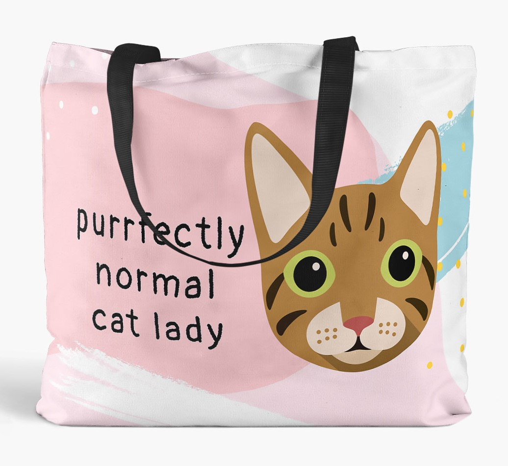 Perfectly Normal Cat Lady Canvas Bag